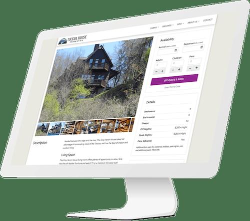 Responsive website design for cabin rental company