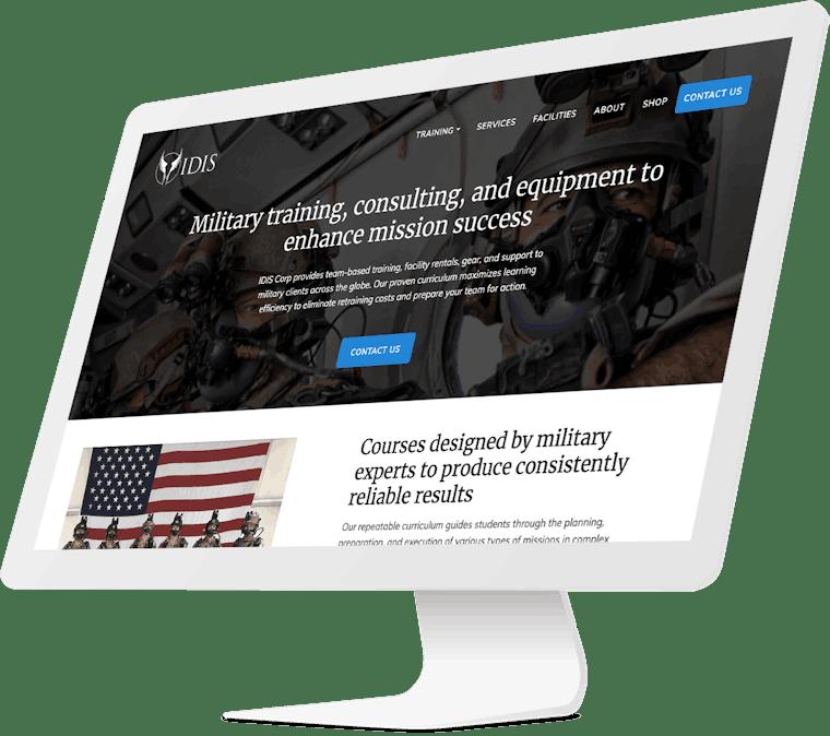 IDIS website design