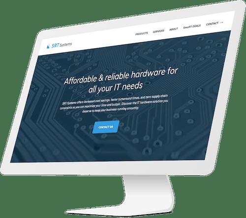 Desktop website design