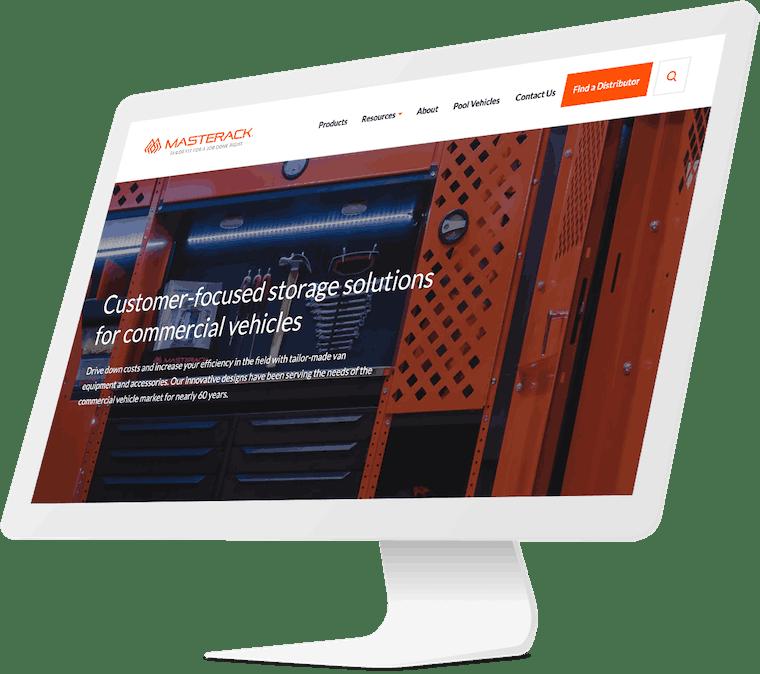 Masterack website design