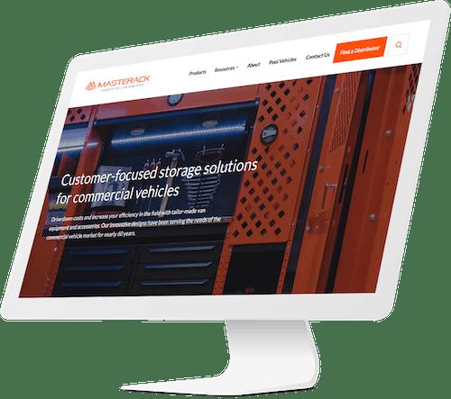 Masterack homepage design