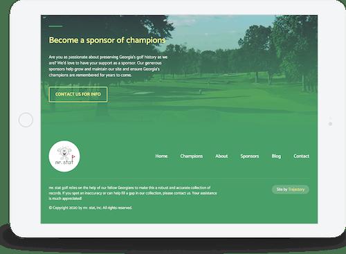 iPad website design