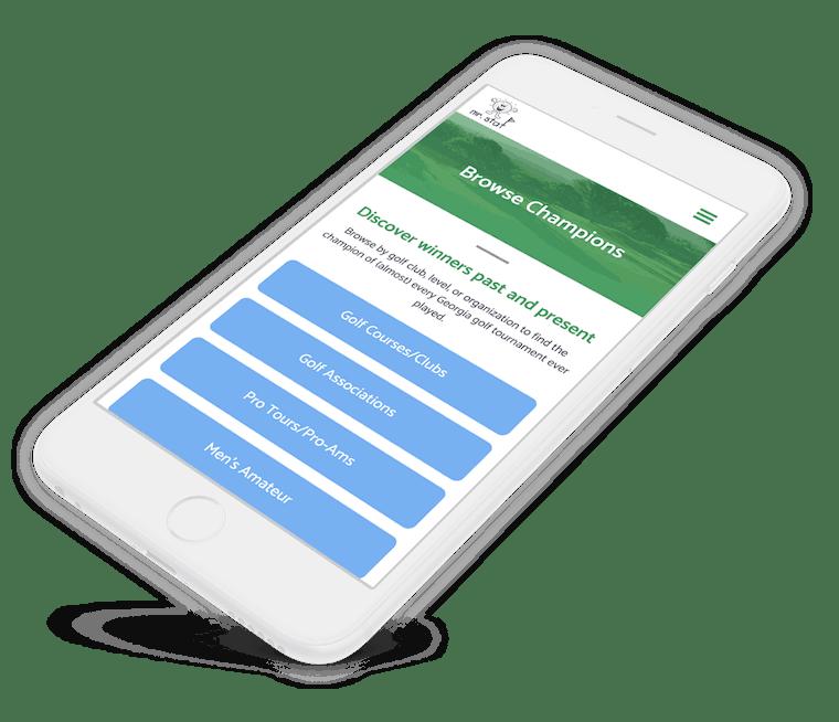 Website for golfing statistics organization