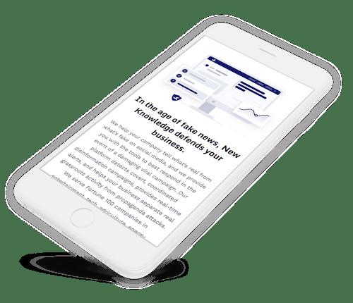 Mobile responsive website design.