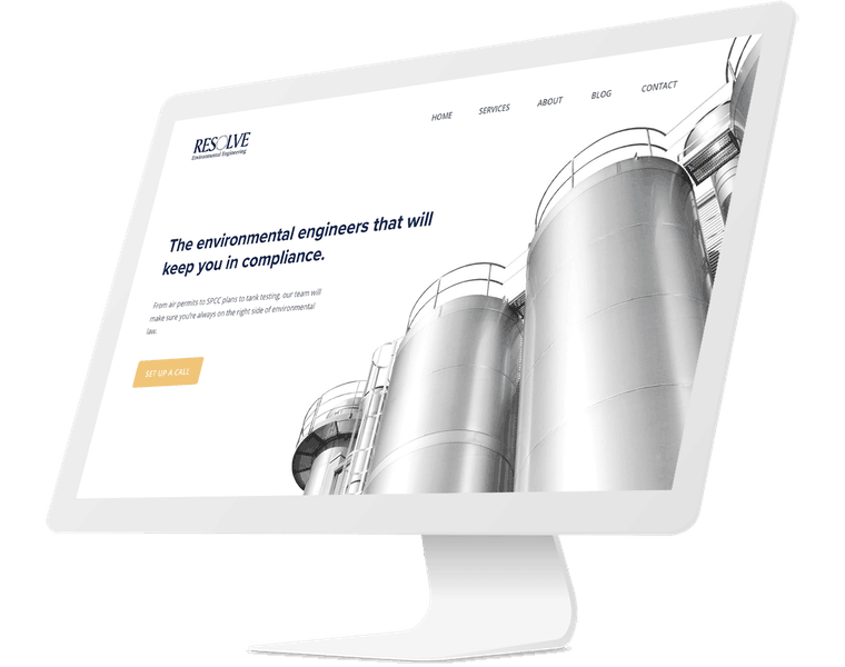 Website redesign for environmental engineering firm