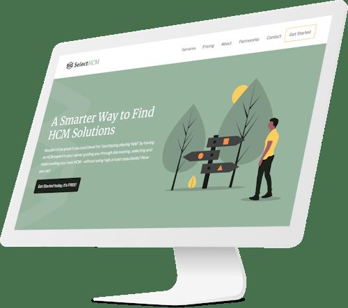 SelectHCM website design