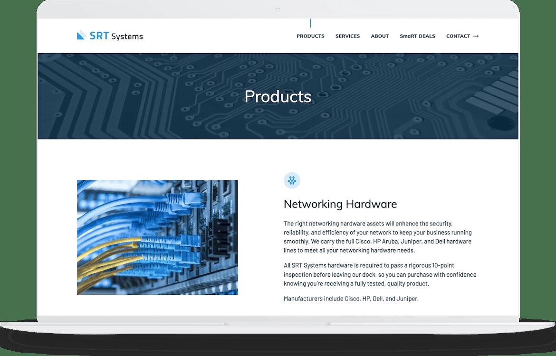 Macbook website design