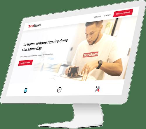 Techmates desktop website