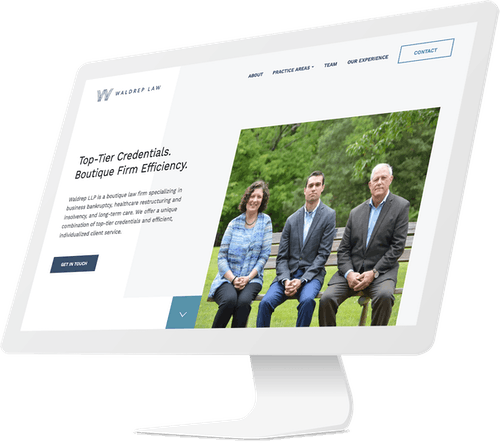 Web design for law firm