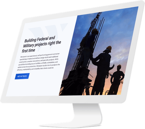 Building contractor website design